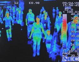 Hình ảnh Camera ảnh nhiệt tại sân bay