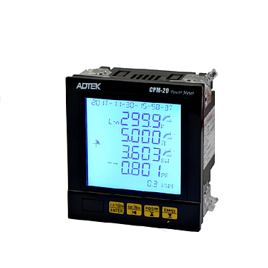 ADTEK CPM-20 MULTIFUNCTION POWER METER (90x90mm, TRMS, RS485)