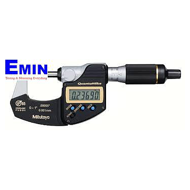 Mitutoyo 293-145 Coolant Proof Digimatic Micrometer (0-25mm/0.001mm, 2mm/revolution)