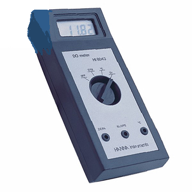 Hanna HI8043 Portable Dissolved Oxygen Meter ( 0.00 to 19.99 mg/L; 0.0 to 50.0°C)