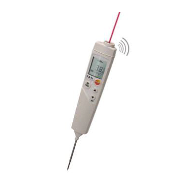 Testo 826-T4 - Infrared thermometer with laser marking and penetration probe for food (0563 8284, -50 ~ +300 °C)
