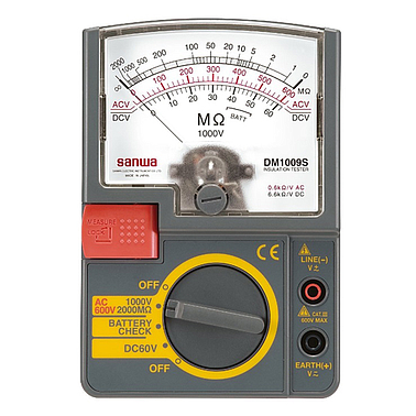 Sanwa PDM509S Analog insulation tester (500V,100MΩ, ±5%)