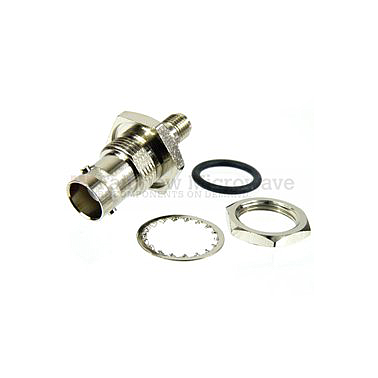 Fairview Microwave SM4714 SMA Female to BNC Female Bulkhead Adapter (4 Ghz)