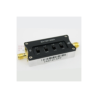 Fairviewmicrowave  SA1501SMA  0 to 15 dB Step Attenuator With a 1 dB Step SMA Female Connectors Rated Up To 6 GHz and Up to 2 Watts in a Switch Design