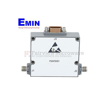 Fairviewmicrowave FMAT6001  0 to 30 dB 10 Bit Programmable TTL Controlled Step Attenuator With a 0.03 dB Step 2.4mm Female To 2.4mm Female From 18 GHz To 40 GHz