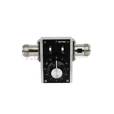 Fairviewmicrowave  FMAT74005  0 to 31 dB Step Attenuator With a 1 dB Step N Female Connectors Rated Up To 2.7 GHz and Up to 2 Watts in a Dial Design