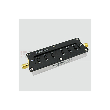 Fairviewmicrowave SA3501SMA  0 to 35 dB Step Attenuator With a 1 dB Step SMA Female Connectors Rated Up To 4 GHz and Up to 2 Watts in a Switch Design