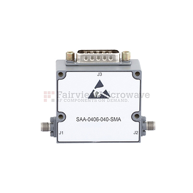 Fairviewmicrowave SAA-0406-040-SMA  0 to 40 dB Voltage Variable Attenuator From 400 MHz To 6 GHz PIN Diode And SMA