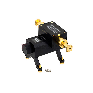 Fairviewmicrowave SMW28AT5001 0 to 50 dB WR-28 Waveguide Direct Read Attenuator From 26.5 GHz to 40 GHz, Dial UG-599/U Flange