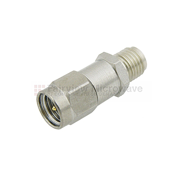 Fairview  SA3015-01 1 dB Fixed Attenuator SMA Male To SMA Female Up To 8 GHz Rated To 2 Watts With Passivated Stainless Steel Body
