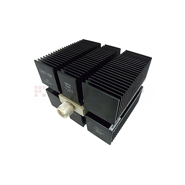 Fairview SA8N150-10 10 dB Fixed Attenuator N Male To N Female Directional Up To 8 GHz Rated To 150 Watts With Black Aluminum Heatsink Body