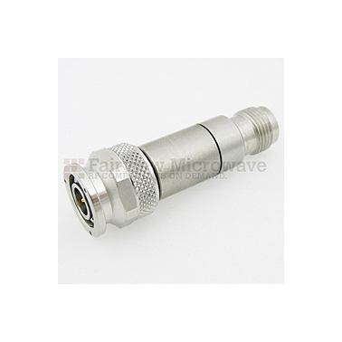 Fairview  SA18T2W-10 10 dB Fixed Attenuator TNC Male To TNC Female Up To 18 GHz Rated To 2 Watts With Passivated Stainless Steel Body