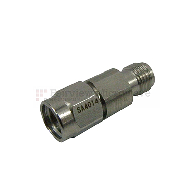 Fairview SA4014-15 15 dB Fixed Attenuator 2.92mm Male To 2.92mm Female Up To 40 GHz Rated To 1 Watt With Passivated Stainless Steel Body