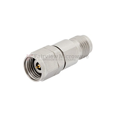 Fairview SA5074-30 30 dB Fixed Attenuator 2.4mm Male To 2.4mm Female Up To 50 GHz Rated To 1 Watt With Passivated Stainless Steel Body