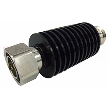 Fairview SA4D251-30 30 dB Fixed Attenuator 7/16 Male To 7/16 Female Up To 4 GHz Rated To 25 Watts With Brass Nickel Body