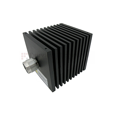 Fairview  SA18N507-40 40 dB Fixed Attenuator N Male To N Female Directional Up To 18 GHz Rated To 50 Watts With Black Aluminum Heatsink Body