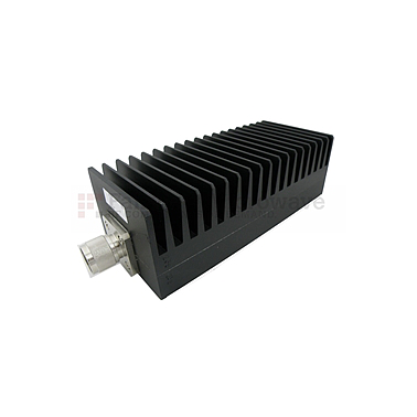 Fairview SA3N1007-40  40 dB Fixed Attenuator N Male To N Female Up To 3 GHz Rated To 100 Watts With Black Aluminum Heatsink Body