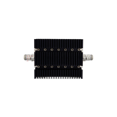 Fairview SA6NFNF100W-60 60 dB Fixed Attenuator N Female To N Female Directional Up To 6 GHz Rated To 100 Watts With Black Aluminum Heatsink Body