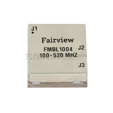 Fairview FMBL1004 100 MHz to 520 MHz Balun at 50 Ohm to 25 Ohm Rated to 100 Watts in a SMT (Surface Mount) Package