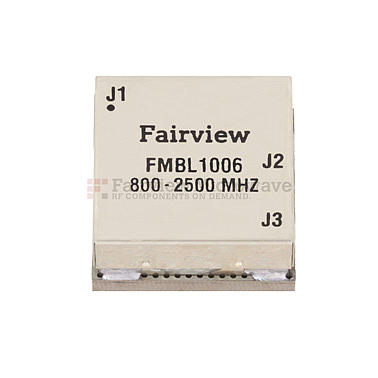 Fairview  FMBL1006  800 MHz to 2.5 GHz Balun at 50 Ohm to 25 Ohm Rated to 100 Watts in a SMT (Surface Mount) Package