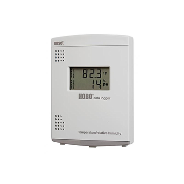 Temperature humidity storage devices have shown the value Hobo U14-001 (15 ~ 95%)