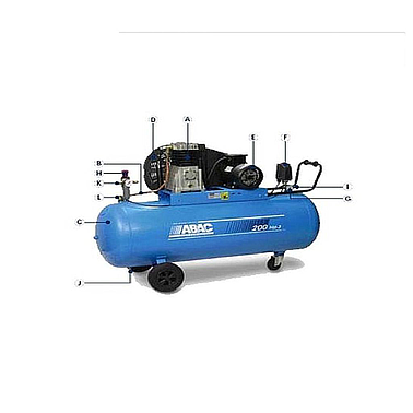 ABAC OM200 air compressor POSITION (1.5HP - None OIL)