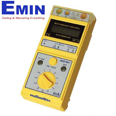Multimetrix RCD 501 Digital RCD tester, 3 to 500 mA