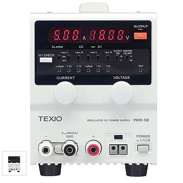 Texio PA250-0.42B Regulated DC Power Supplies (250V/0.42A)