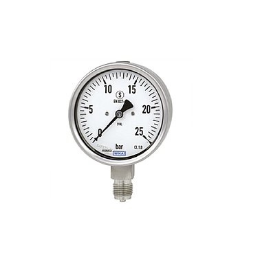 Wika 232.50 Pressure Gauges (600 mbar,dial 100,lower mount)