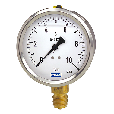 Wika 213.53 (6 Bar(Psi),dial 63,lower mount) Pressure Gauges