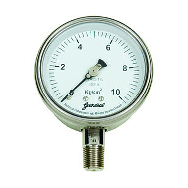 GAUGES BOURDON FRANCE BDT-C-100-S4S-A-100-S6S-15NTM-(0-200)-C-L Bimetal Dial Thermometer