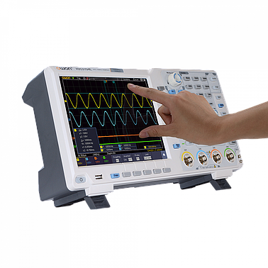 OWON XDS3204AE Touchscreen Digital Oscilloscope (200MHz, 1GS/s, 14bit, 2CH, 40M record length)