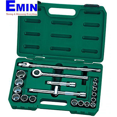 "SATA 09087 20PC。 1/2""DR.6&12PT SAE SOCKET SET"