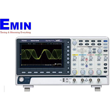 Texio DCS-2104E digital oscilloscope (4 Channels, 100Mhz, 1GS / s)