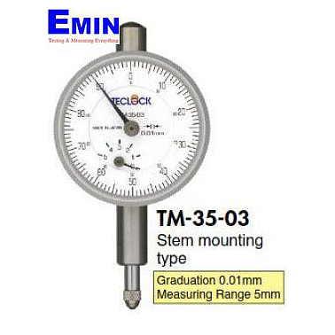 TECLOCK TM-35-03 Small Dial Indicator (5mm/0.01mm)
