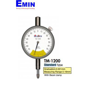 TECLOCK TM-1200 One Revolution Dial Indicator (0.16mm/0.001mm)