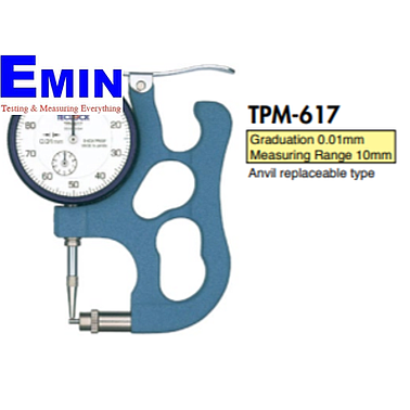 TECLOCK TPM-617 Dial Pipe Gauge (10mm/0.01mm)