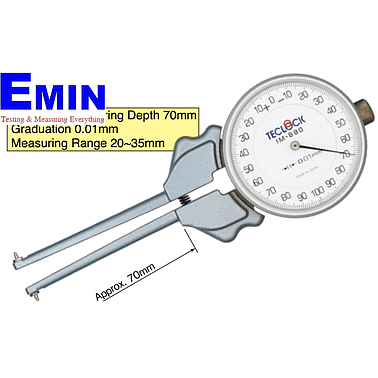TECLOCK IM-880 Internal Dial Caliper Gauge (20~35mm/0.01mm)