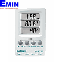 Hygro-Thermometer Clock Extech 445702