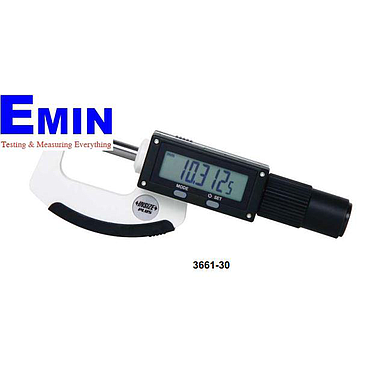 INSIZE 3661-55 High Precision Non-rotating Spindle Digital Micrometer (25-55mm; ±2μm )