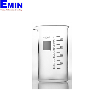 WITEG 5 502 800 S Beaker tall form with spout neutral (800ml; 10 pcs)