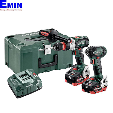 METABO COMBO SET 2.1.14 18 V BL LIHD Cordless machines in a set (SBLTXBLQ+SSDBL)